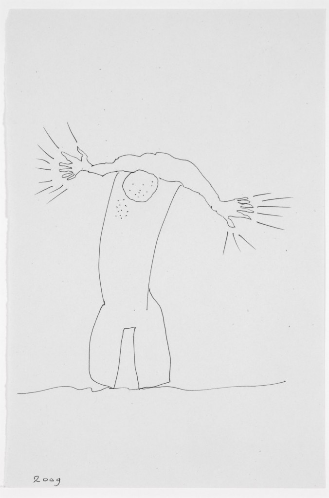 Door den tijd..., 2009-01 (tekening, 21 x 15 cm)