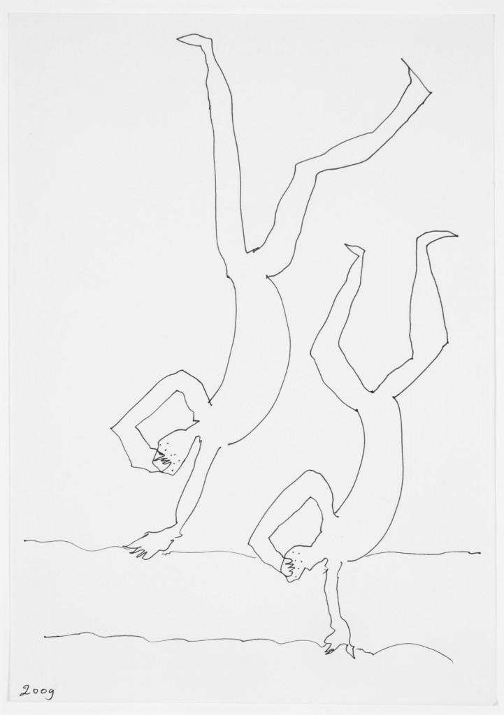 Door den tijd..., 2009-02 (tekening, 21 x 15 cm)