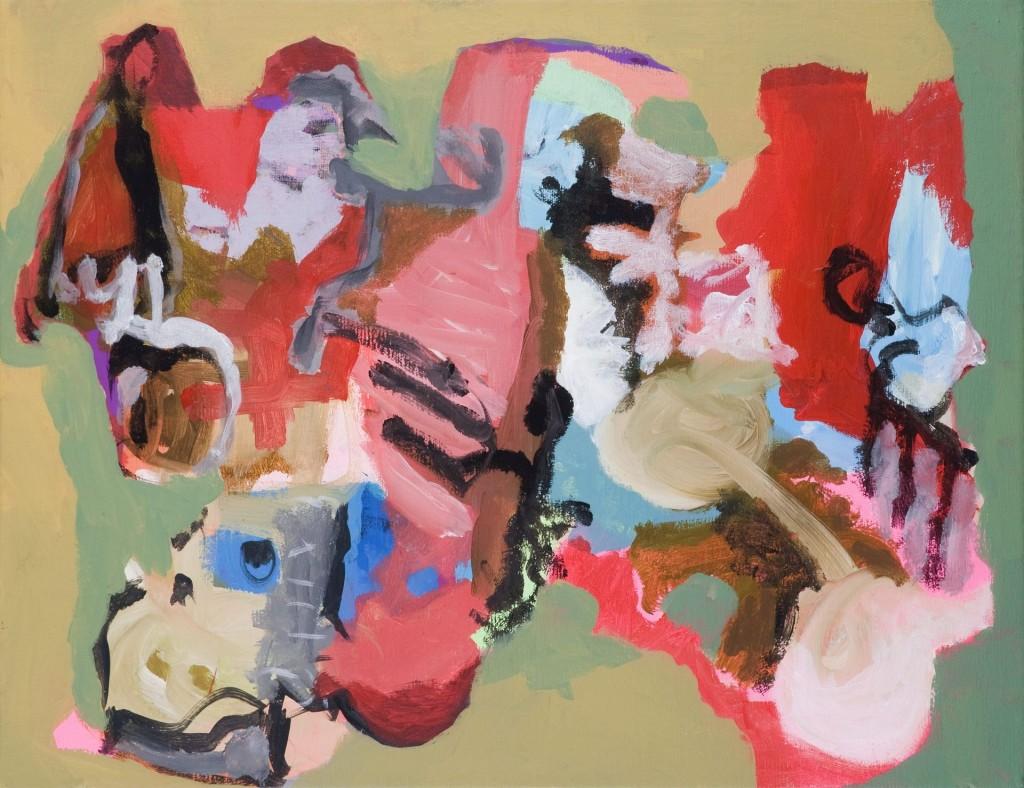 Fanfare, 2009 (acrylverf op linnen, 40 x 50 cm)