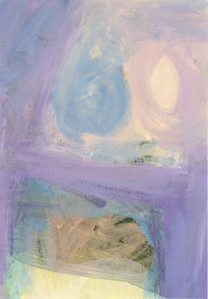 Licht, 2004-01 (acrylverf op papier, 52 x 42 cm)
