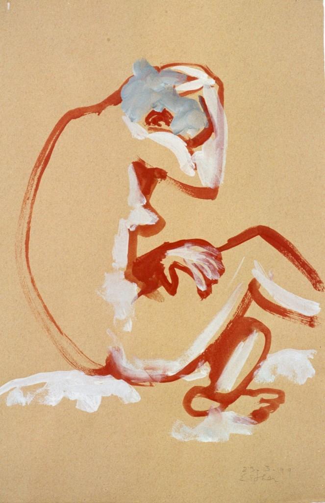 Modelstudie Esther, 1999-04 (gouache, 73 x 53 cm)