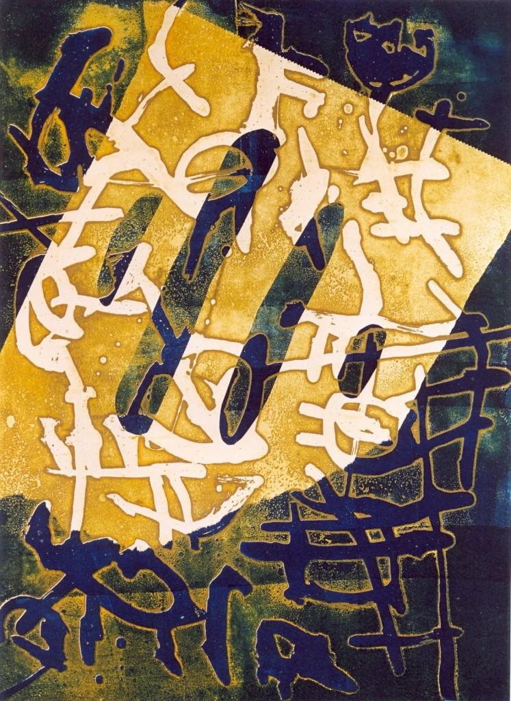 Opening, 2002 (aquatint mono-print, 52 x 42 cm)