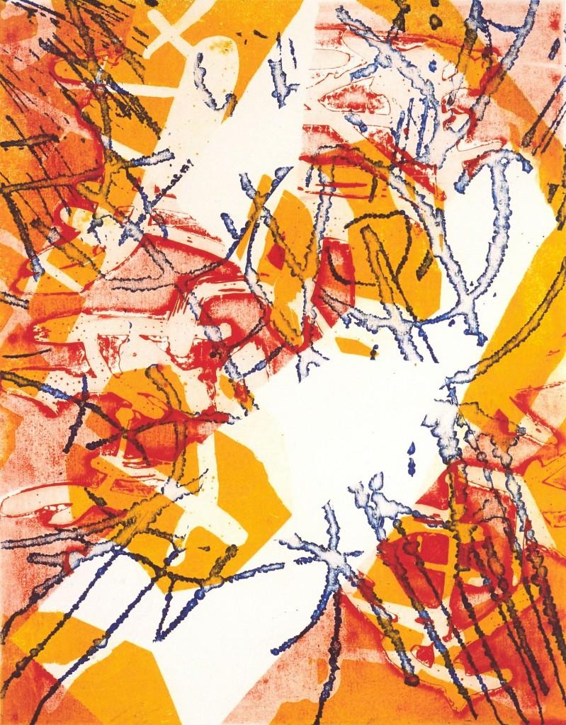 Vreugde, 2002 (aquatint mono-print, 29,5 x 23,5 cm)
