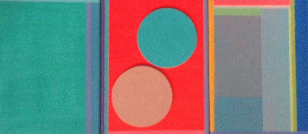 compositie II, 2015 (acrylverf op linnen, 24 x 54 cm)