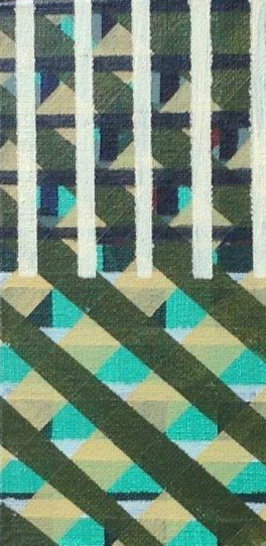 Compositie, acryl op linnen, 27,5 x 17,5 cm (2018)