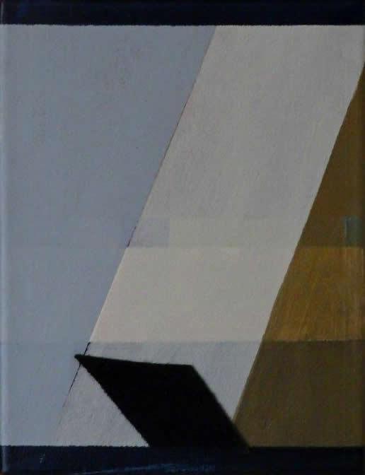 Compositie, acryl, collage op doek, 27,5 x 21,5 cm (2018)