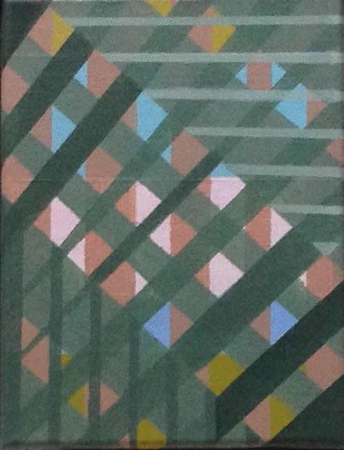 Compositie, acryl op linnen, 27,5 x 21,5 cm (2018)