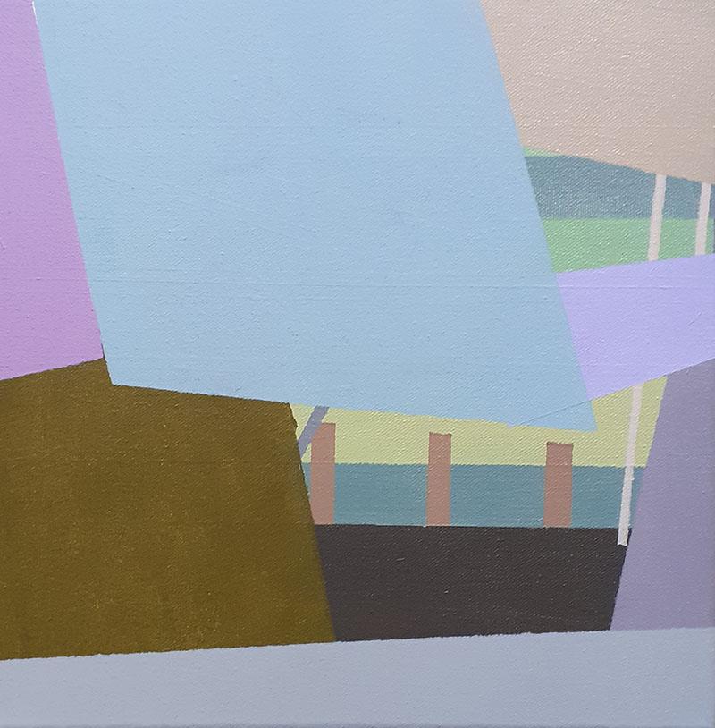 Compositie nr. 39, acryl op linnen, 30 x 30 cm (2020)