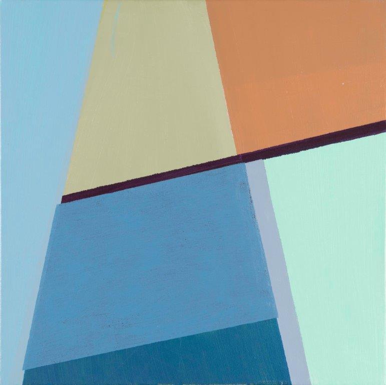 Compositie nr. 15, acryl op linnen, 40 x 40 cm (2019)