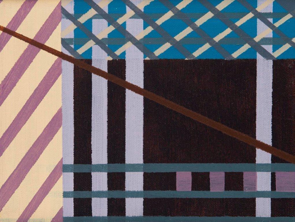 Compositie nr. 9, acryl op linnen, 21,5 x 27 cm (2018)