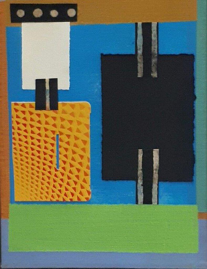 Hommage aan Theo van Doesburg, 2017 (acryl-collage, 24 x 18 cm)