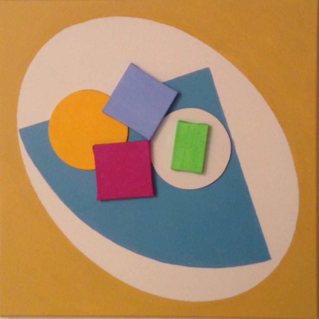 ovaal in vierkant, 2015 (acryl op linnen, 40 x 40 cm)