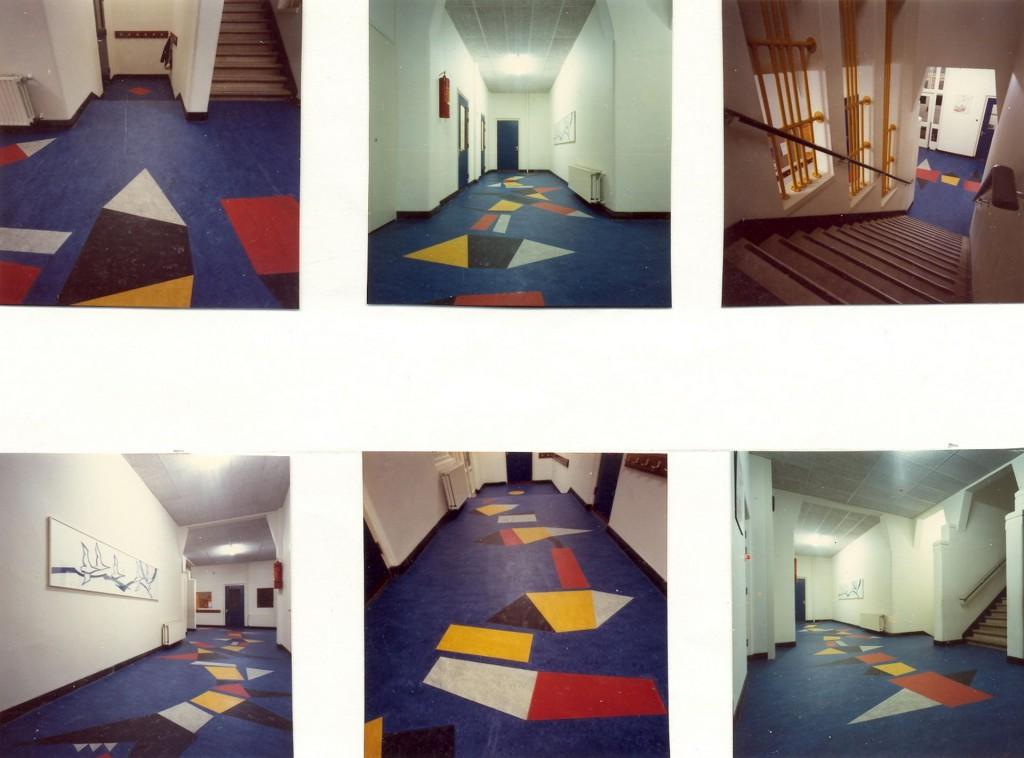 vloerintarsia, 1979, (linoleum, basisschool De Kring, Amsterdam)