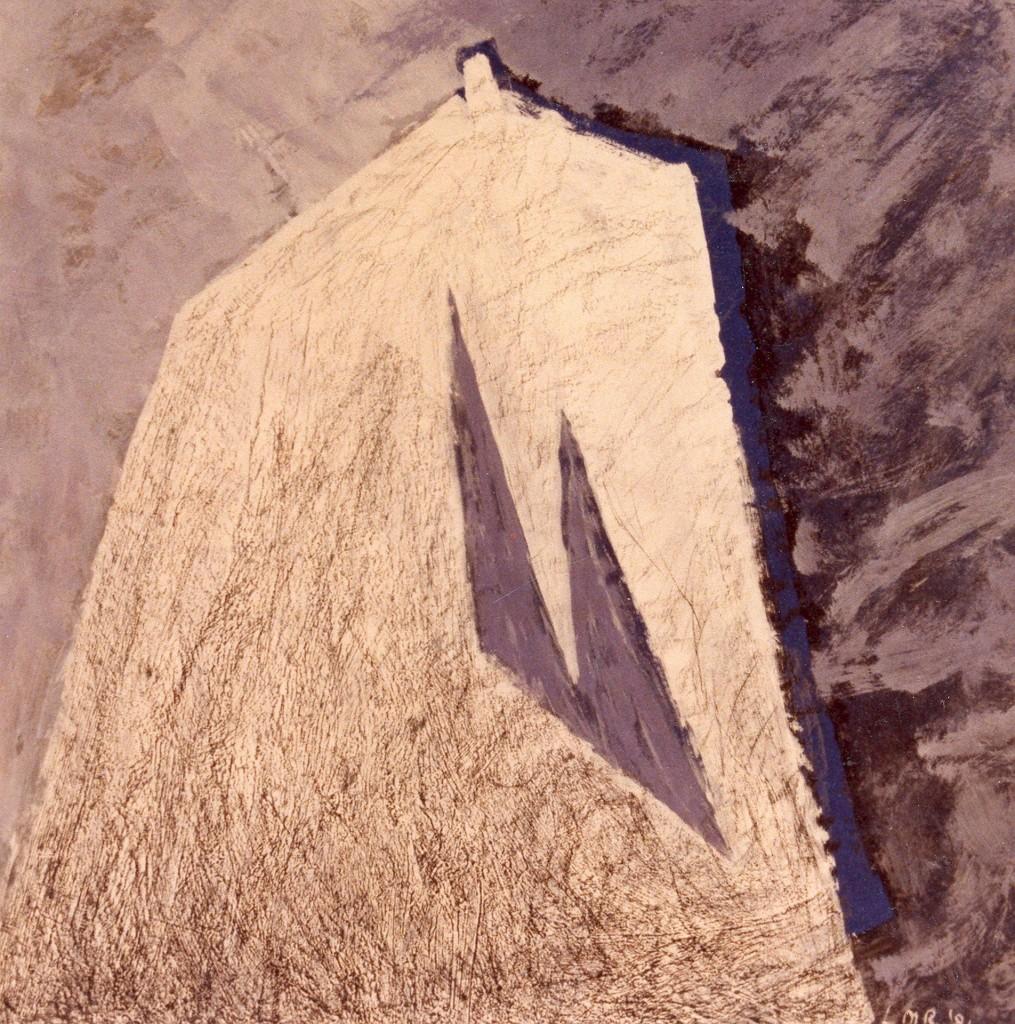 Gevel, 1981 (gemengde techniek op papier, 72 x 71 cm)