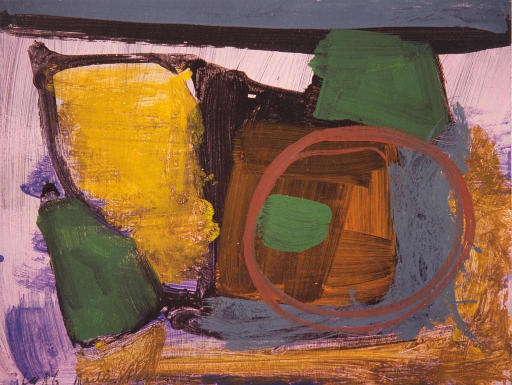 zonder titel, 1986-04 (gouache, 40 x 50 cm)