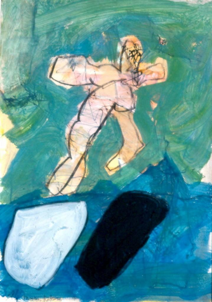 zonder titel, 1987-01 (gouache, 49 x 32 cm)