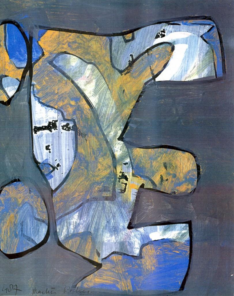 Pelgrim, 1987-03 (gouache, 50 x 70 cm)