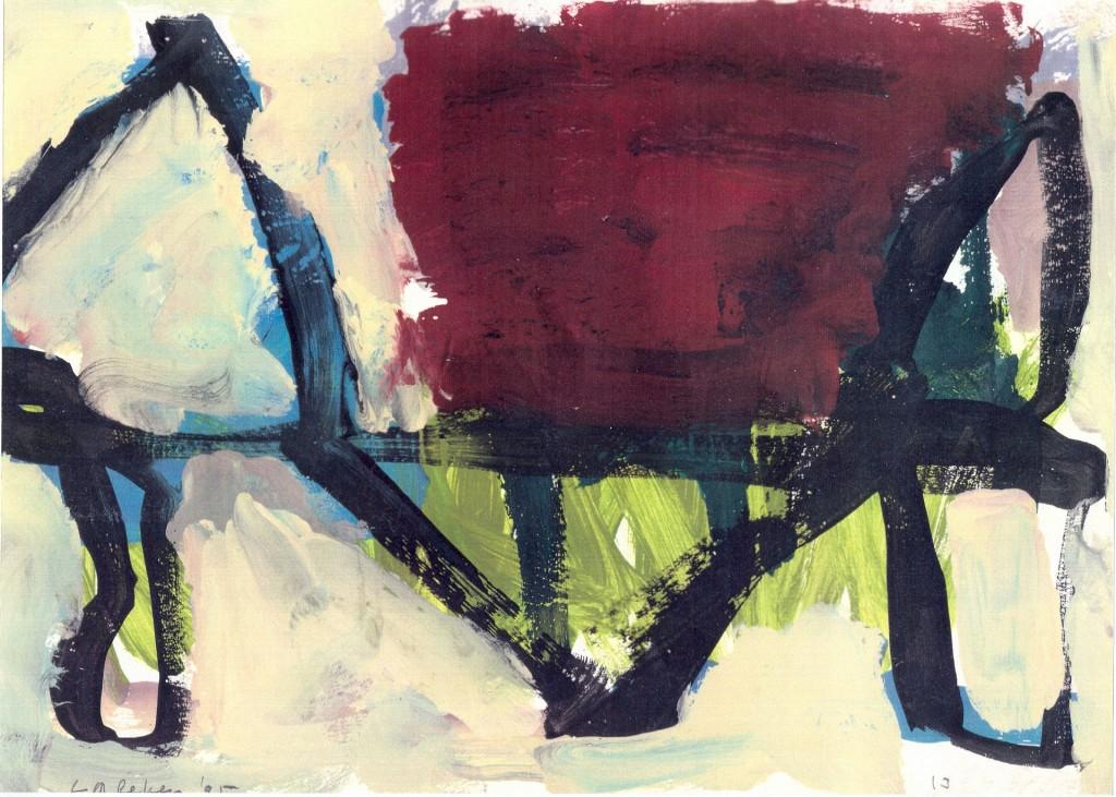 Barrière, 1995-03 (gouache, 36 x 42 cm)