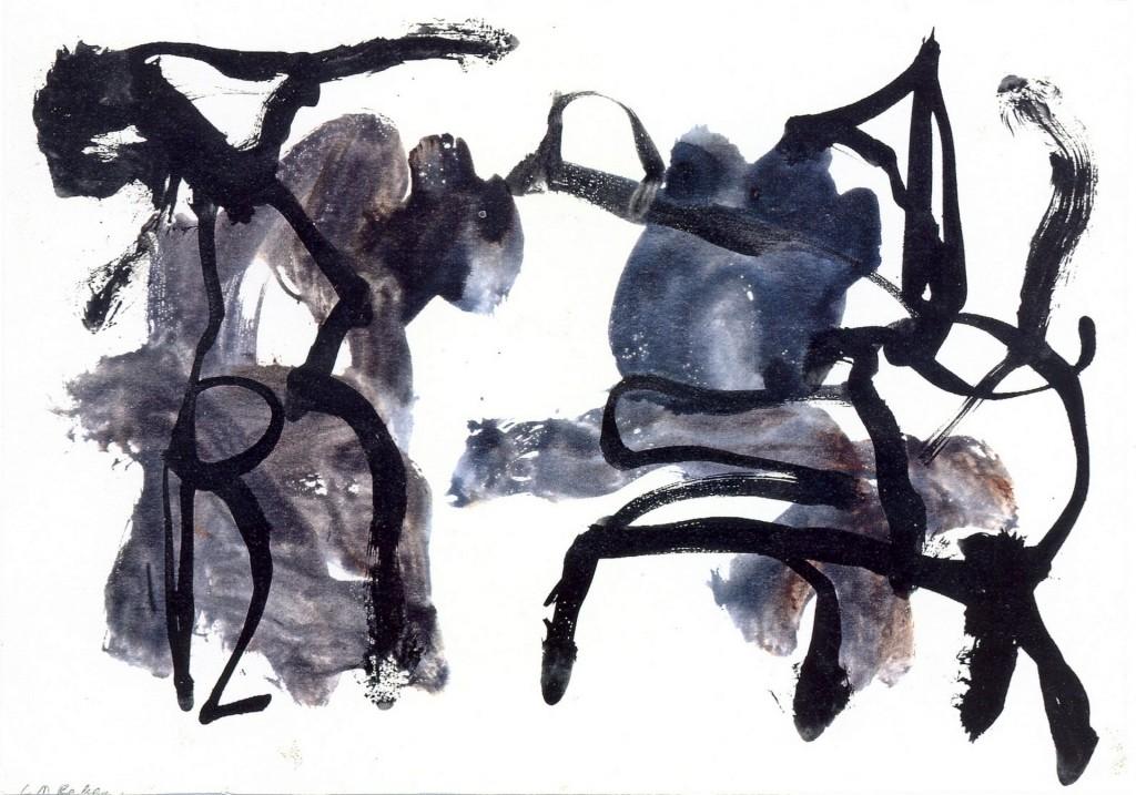zonder titel, 1995-06 (gouache, 34 x 42 cm)
