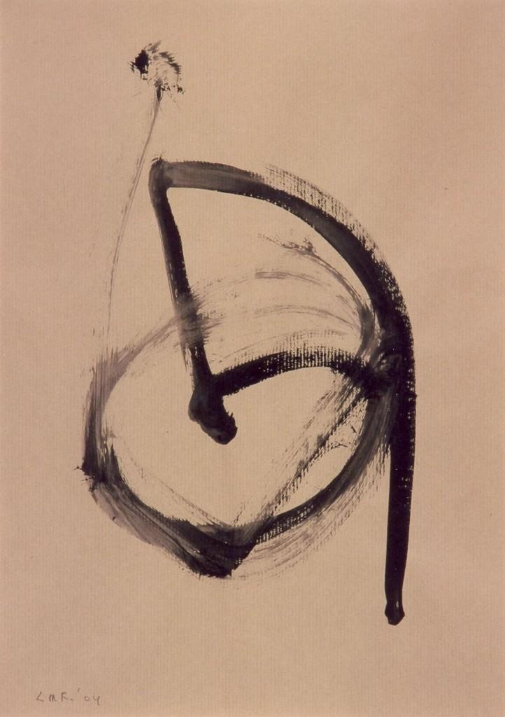 zonder titel, 2004-06 (tekening op pakpapier, 49 x 35 cm)