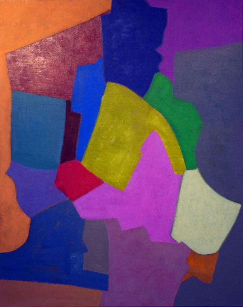 Compositie, 2006-09 (acrylverf op linnen, 100 x 70 cm)