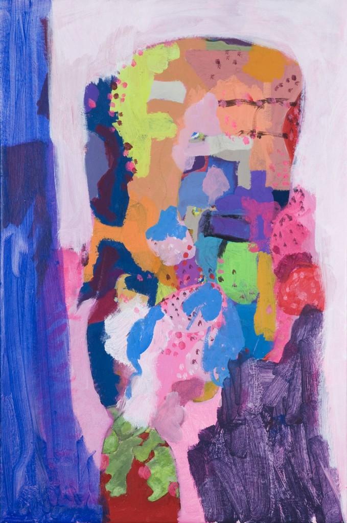 zonder titel, 2009-01 (acrylverf op linnen, 60 x 40 cm)